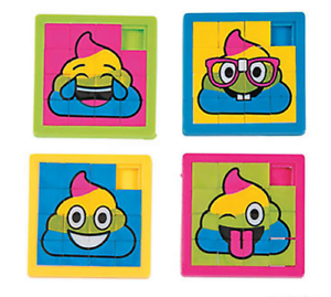 Pack-of-4-Rainbow-Poop-Emoji-Slide-Puzzles-Party-Bags-Favours-Fillers