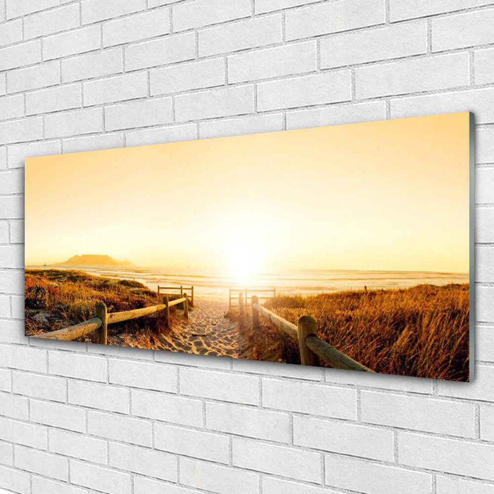 Acrylglasbilder Wandbilder aus Plexiglas® 125x50 Fußpfad Landschaft