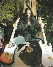 Richie Kotzen with Fender Telecaster & Stratocaster guitars 8 x 11 pinup photo