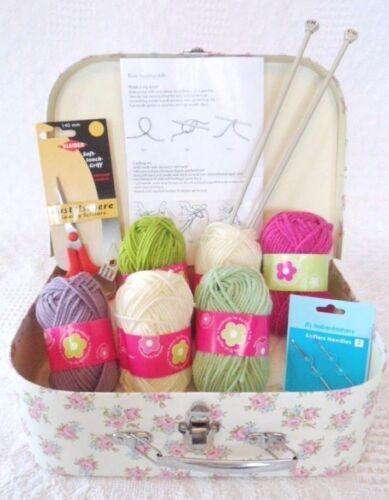 Kit de tejer principiantes aprender a tejer todo incluido fácil /& magnífico!