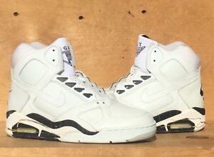 Details about Vintage 1990 Nike Air Flight Force WhiteBlack NOT WEARABLE Size 8 Read Ad