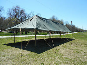 ... MILITARY-TENT-CANOPY-GP-LARGE-SIZE-18X52-VINYL- & MILITARY TENT CANOPY GP LARGE SIZE 18X52 VINYL CANVAS ARMY SURPLUS ...