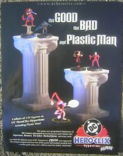 "2002 DC HEROCLIX Figures 8x11"" Mini Poster Advertising Sheet - The Joker, Batman"