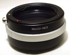 Nikon AF-S G Lens to Sony NEX E Camera Mount Adapter ILCE a6300 a5100 NEX 5T a7