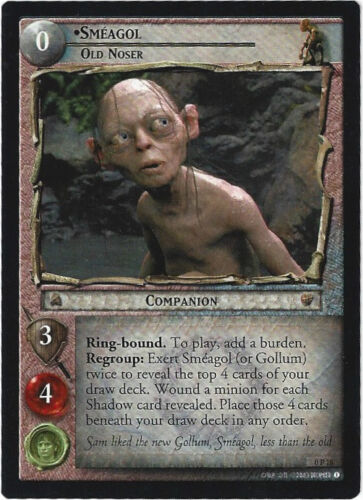 CCG 34 Lord of the Rings Hobbit Promo Karte Smeagol engl 0P18
