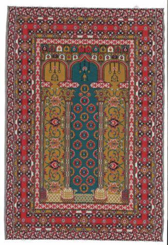 "Dollhouse Miniature Beautiful Woven Turkish Rug 6/"" x 9/"" ~ M110-231"