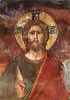 Alte Kunstpostkarte - Pietro Cavallini - Jüngstes Gericht - Jesus Christus
