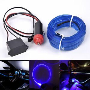 4m auto innenraum dekor optischer faser licht armaturenbrett 12v led streifen ebay. Black Bedroom Furniture Sets. Home Design Ideas