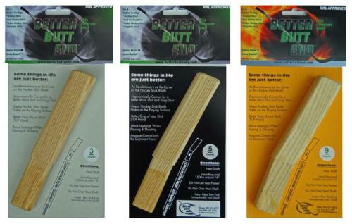 Ergo Wooden Wood Shaft Extension Senior SR Better Butt End Hockey Stick Plug