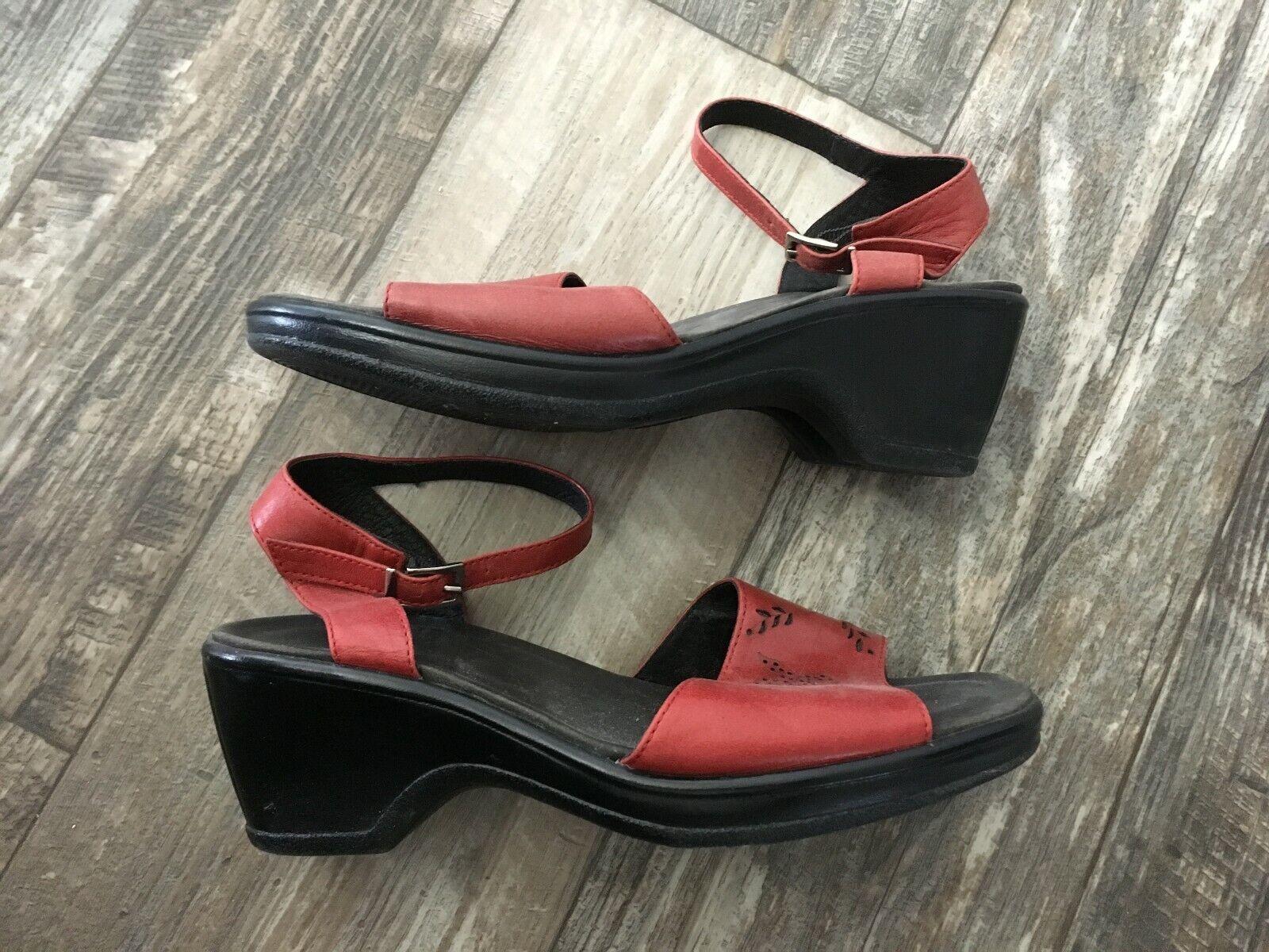 Dansko Red Leather Sandal - 38 - image 5