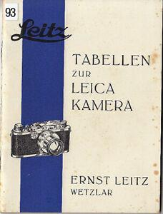 Leitz-Tabellen-zur-Leica-Kamera