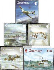 GB-Guernsey-1007-1011-kompl-Ausg-postfrisch-2004-Ereignisse-im-2-Weltkrieg