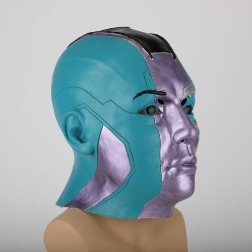 Marvel Avengers Issue Nebula Masque Cosplay Super Héros Femme Tête Complète Masque Props