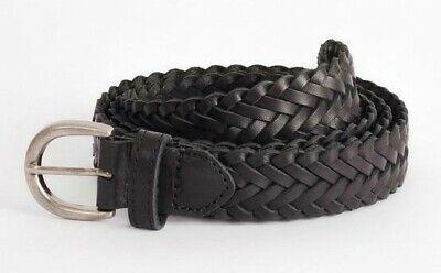 2019 Moda Bnwt Afends Ragnatele Cintura In Pelle Nero Unisex-