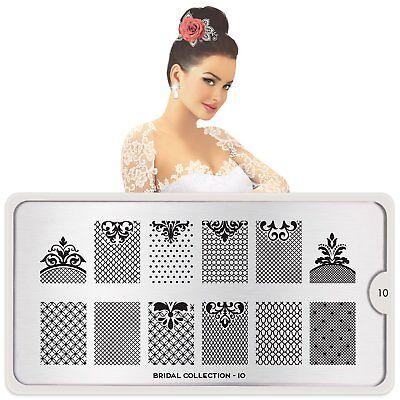 MoYou London BRIDAL 10 Collection Stamping Schablone, Hochzeit Spitze Borte