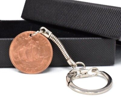 1941 Birth Year Half Penny Coin Birthday Anniversary Keyring Gift Keychain