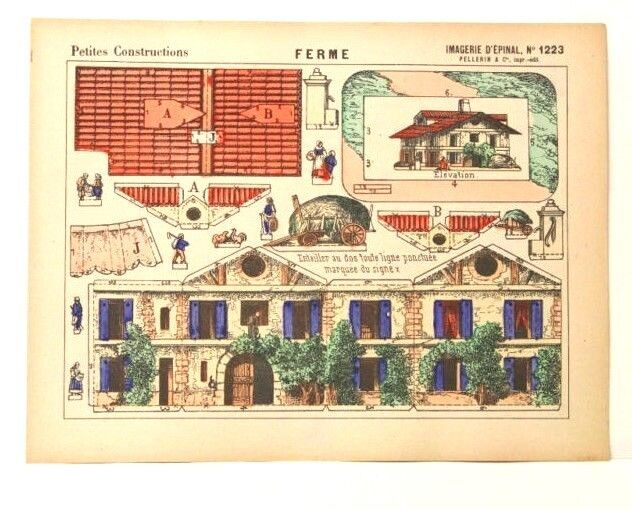 Imagerie d'epinal no 1223 ambiente (FARM), construcciones de papel de Juguete Modelo petites