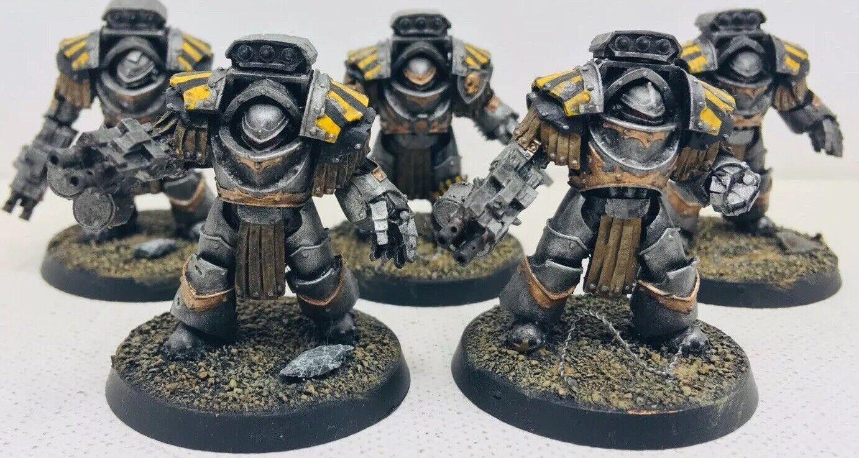 Warhammer 30k Iron Warriors Legion Tyrant Seige Terminators X 5 Forgeworld Chaos
