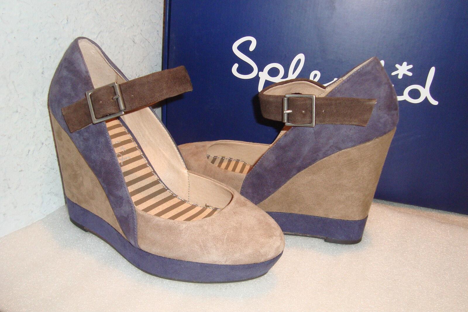 Splendid Footwear Womens NWB Larabee Larabee Larabee Latte Tan Wedge Suede shoes 8 MED NEW d2d2e8