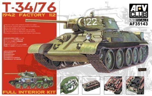 1 35 AFV Club T34 76 Mod 1942 No.112 Full Interior kit