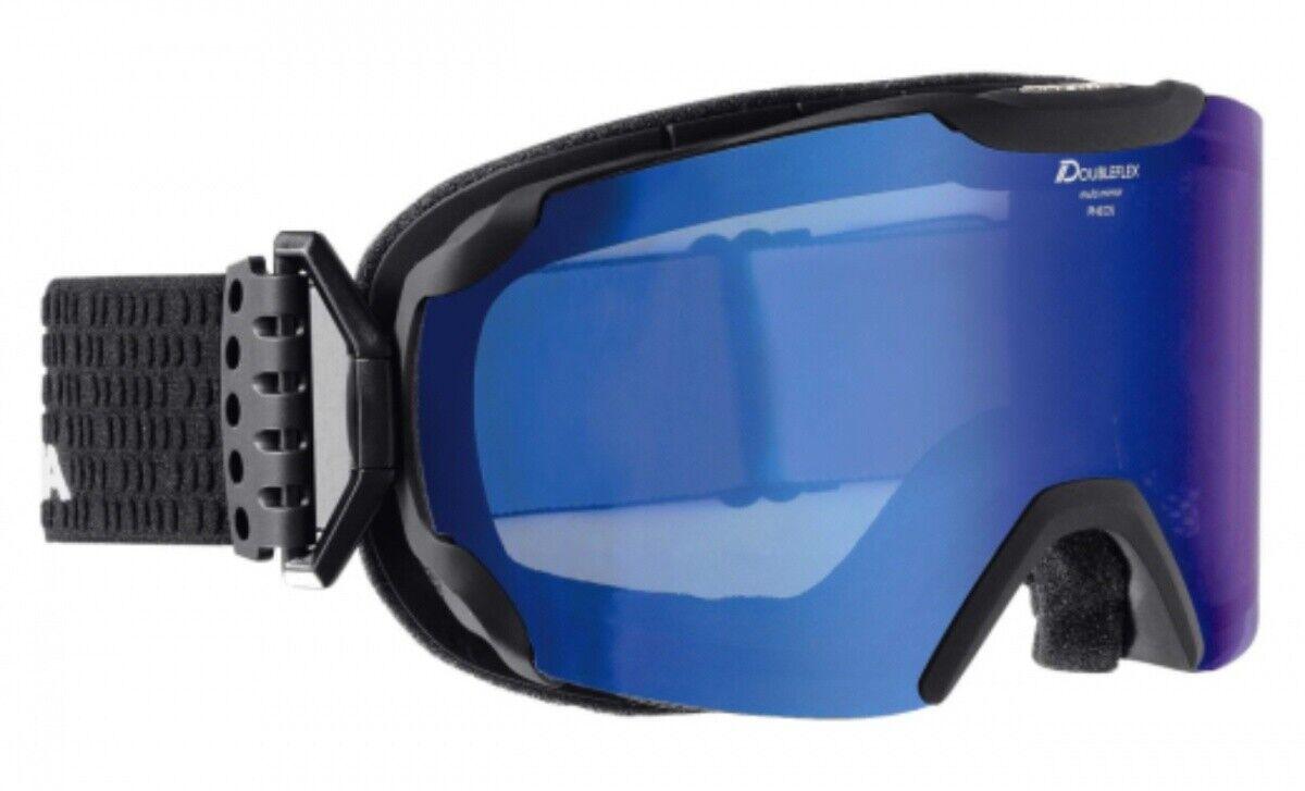 Alpina Pheos MM Snowboardbrille Skibrille schwarz matt Multimirror Blau