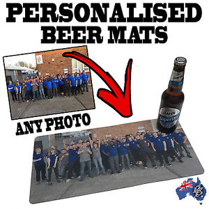 Image Is Loading PERSONALISED BAR RUNNERS Beer Mat Drip Cocktail
