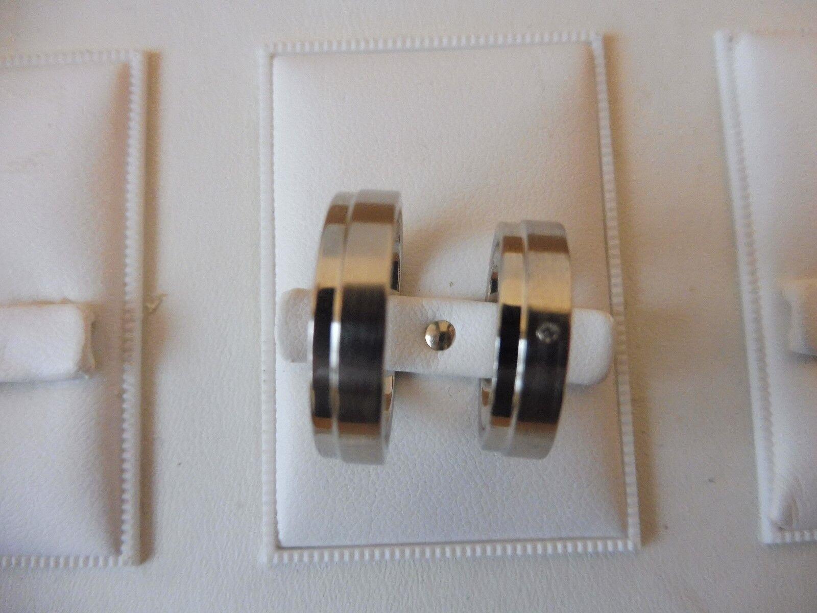 _edles Paar Ringe ( Partnerringe ,Trauringe...)__925 silver__mit Stein__Neu_
