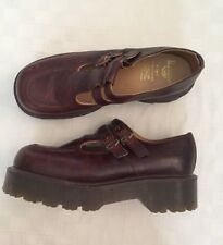 b55733c6647 Dr Doc Martens Women's Shoes Mary Jane Brown Leather Double Strap MIE UK 7  USA 9