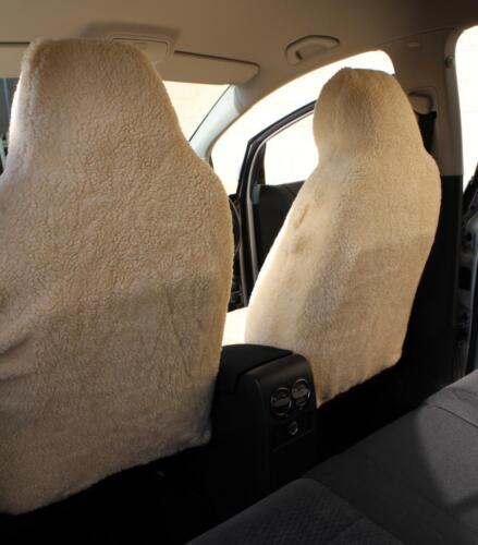 VW TRANSPORTER T4 T5 T6 Luxury Faux SHEEPSKIN FUR Car Seat Covers Front Pair