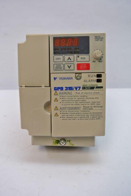 Yaskawa GPD 315/V7 400V 3 Phase 1.5kW AC Drive w/ Digital Operator JVOP-140
