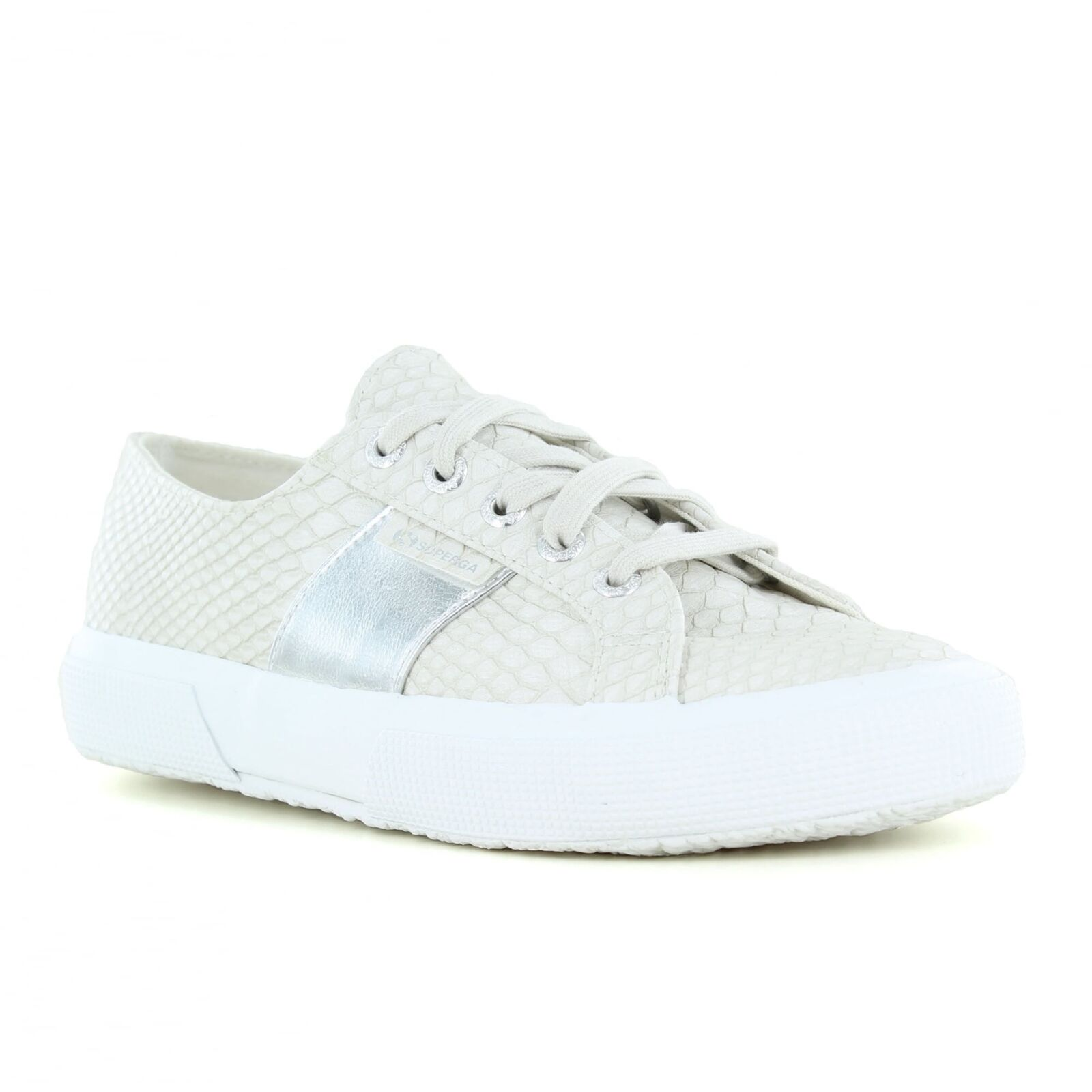 Superga PU Snake Damenschuhe Fashion Trainers - Light Grau