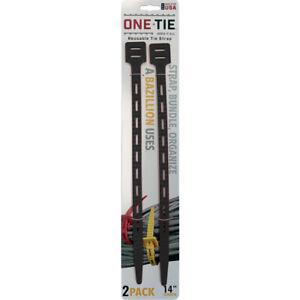 One-tie-14-Pouces-L-Noir-Reutilisable-Cravate-Bracelet-2-Paquet