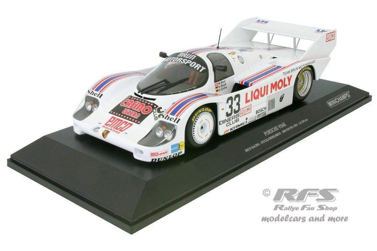 Porsche 956 K 1000 HM spa1983 stuc Grohs Brun Liqui Moly 1 43 Minichamps