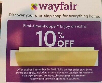 wayfair promo code september 2020