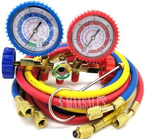 Details about New R134A R12 R22 Manifold Gauge Set AC Refrigeration Test  w/60