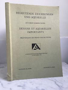 Catalogue Di Vendita Disegni E Acquerelli Importanti 26 September 1970
