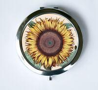 Sunflower Compact Mirror Pocket Mirror Flowers Botanical