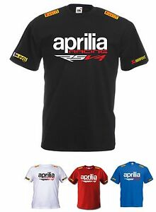 Rsv4Be Aprilia Shirt Racing Maglietta T A Racer Factory Aj45RL