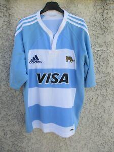 Maillot-rugby-ARGENTINA-UAR-PUMAS-2005-2007-shirt-ADIDAS-ARGENTINE-L-XL