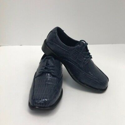 Boys Jimi Jaymz Navy Blue Dress Shoes with Laces Size 13-3