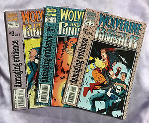COMPLETE-1993-SET-Wolverine-and-the-Punisher-1-2-3-Marvel-Comics-NM