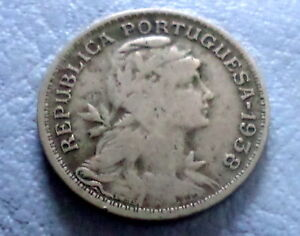 1958 Philippines 50 Centavos Unc World Coin Hammer Anvil Eagle Asia 50 Cents