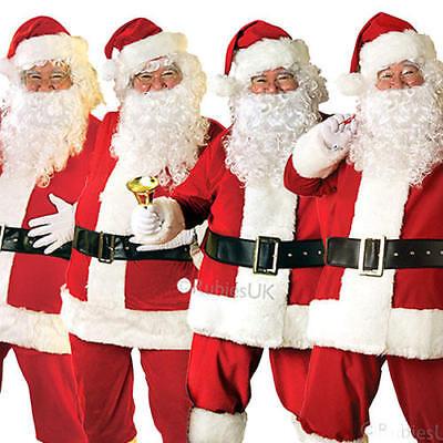 SANTA Claus Babbo Natale Da Uomo Costume NATALE ST NICOLAS Costume Adulto Tuta | eBay