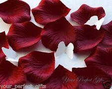 1000 BURGUNDY DARK RED SILK ROSE PETALS WEDDING FLOWER