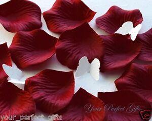 1000-BURGUNDY-DARK-RED-SILK-ROSE-PETALS-WEDDING-FLOWER