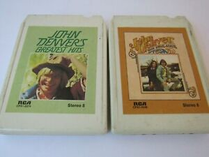Lot-of-2-John-Denver-8-Track-Tapes-Back-Home-Again-and-Greatest-Hits
