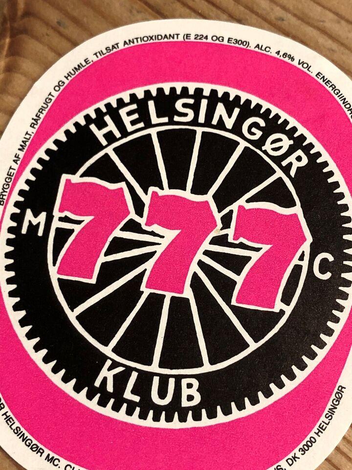 Øl, Øletiket fra Wiibroe 777 Helsingør MC klub