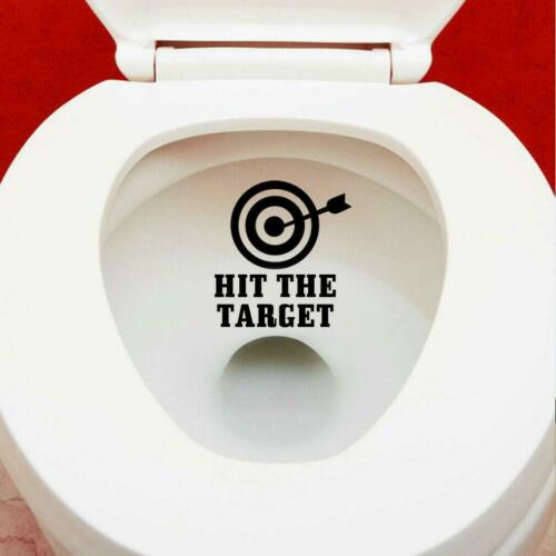 Hit The Target Toilet Bowl Novelty Funny Quote Bathroom Sticker Wall Vinyl Decal