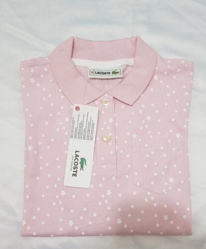RRP £65 Lacoste Junior Girls Long Sleeve Polo Shirt Kids Cotton Tops Pink