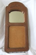 Vintage Mirror Message Board & Key Holders Wall Hanging Decor